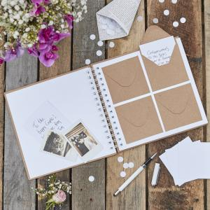 Envelope Guest Book - Rustic Country
