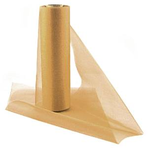 Organza Drapes Sheer Roll Guld 25 m x 29 cm