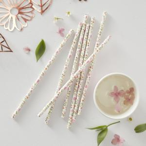 Floral Paper Straws - Ditsy Floral