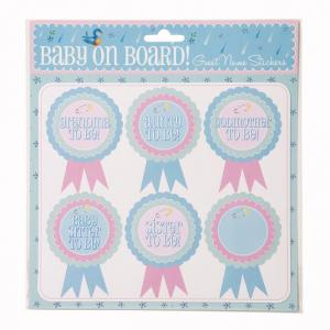 Baby on Board Name Stickers - Baby Shower namnetiketter