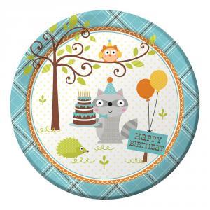 Happi Woodland Boy Dinner Plates 22 cm