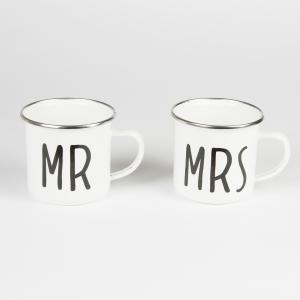 Mr & Mrs Enamel Mug - emaljmuggar