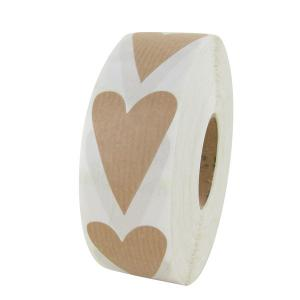 Nature Ribbed Heart Label