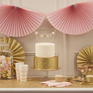 Fan Bunting Pastel Pink - Pastel Perfection