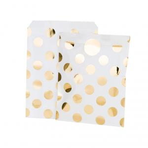 Modern Metallics Gold Dots Treat Bag