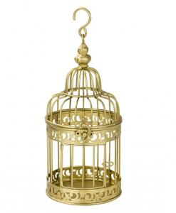 Be Happy Gold Birdcage