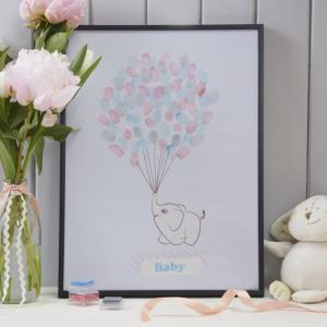 Finger Print Keepsake Guest Book - Little One