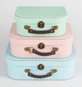 Pastel Retro Suitcases - set of 3