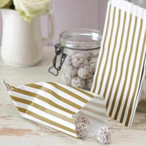 Gold & Ivory Candy Bags - Vintage Lace