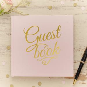 Gold Foiled Guest Book - Pastel Perfection