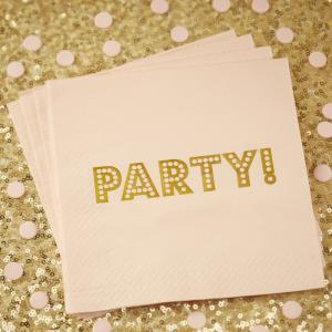 Gold Foiled Paper Napkins - Pastel Perfection