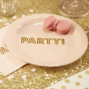 Gold Foiled Paper Plates - Pastel Perfection