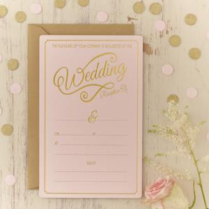 Gold Foiled Wedding Evening Invitations - Pastel Perfection