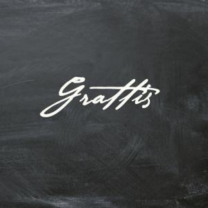 """""""Grattis"""" textkort - litet"""