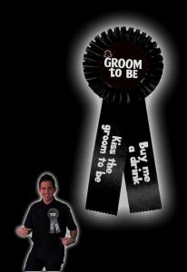 Groom To Be Brooch - svart brosch till svensexan