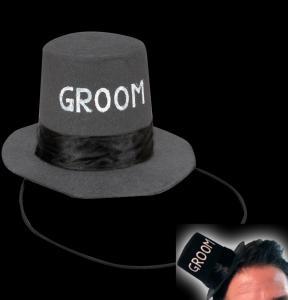 Mini Groom Top Hat - hatt till svensexan