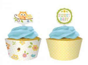 Happi Tree Cupcake Wraps & Picks