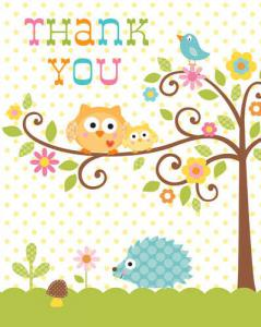 Happi Tree Thank You Cards