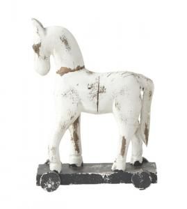 TROJA häst på hjul - vit