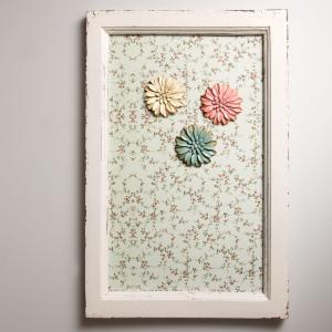 Wooden Magnetic Board - blommig magnettavla