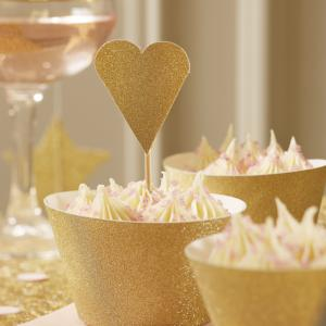 Heart Cup Cake Toppers - Pastel Perfection