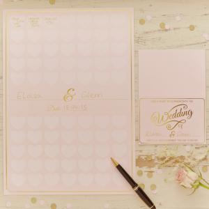 Heart Guest Book A3 Poster - Pastel Perfection