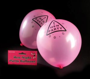 Hen Night Pink Balloons - ballonger till möhippan