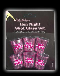Hen Night Shot Glass Set - shotsglas för möhippan