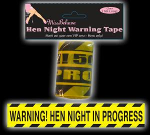 Hen Night Warning Tape - varningsband för möhippan
