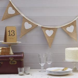 Hessian & Lace Bunting - Vintage Affair
