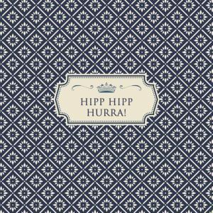 """""""Hipp hipp hurra"""" textkort - litet"""