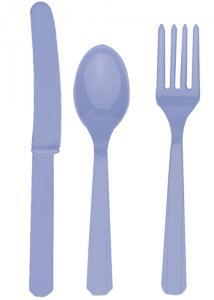 Hydrangea Lilac Party Plastic Cutlery