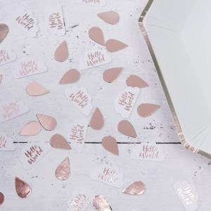 Rose Gold & Clouds Table Confetti - Hello World