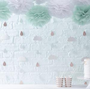 Rose Gold & Clouds Backdrop - Hello World