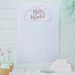 Rose Gold Fingerprint Guest Book - Hello World