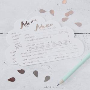 Rose Gold Advice For The Parents Cards - Hello World
