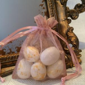 Mauve Organza Gift Bags - gammelrosa organzapåsar