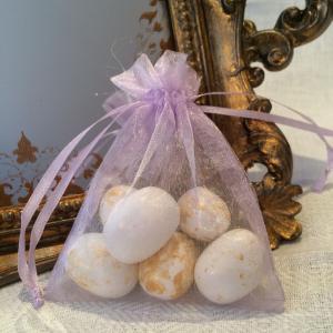 Lavender Organza Gift Bags - ljuslila organzapåsar