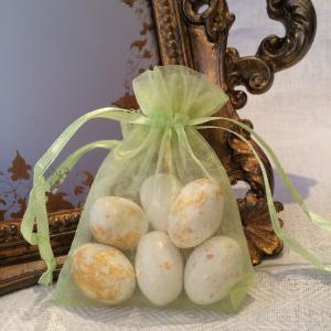 Lime Green Organza Gift Bags - limegröna organzapåsar