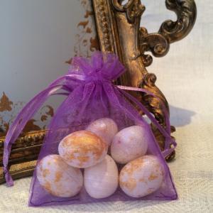Purple Organza Gift Bags - lila organzapåsar