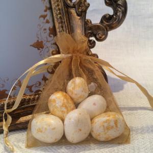 Gold Organza Gift Bags - guldfärgade organzapåsar