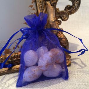 Royal Organza Gift Bags - kornblåa organzapåsar