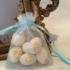 Baby Blue Organza Gift Bags - ljusblåa organzapåsar