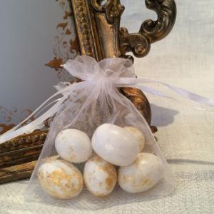 White Organza Gift Bags - vita organzapåsar