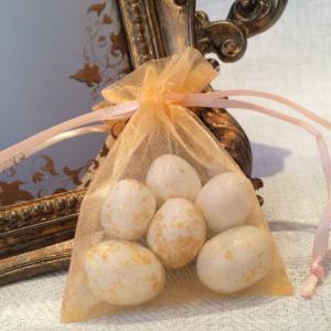 Peach Organza Gift Bags - persikofärgade organzapåsar
