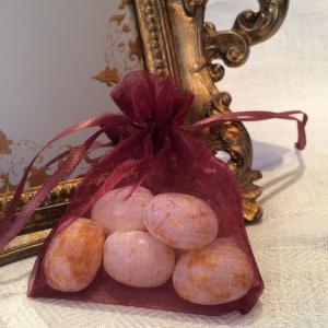 Burgundy Organza Gift Bags - vinröda organzapåsar