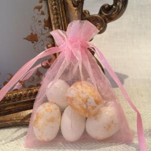 Baby Pink Organza Bags - ljusrosa organzapåsar