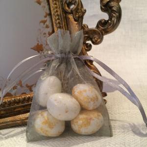 Silver Organza Gift Bags - silverfärgade organzapåsar