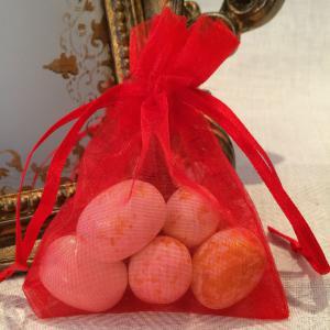Red Organza Gift Bags - röda organzapåsar