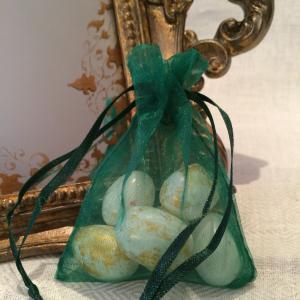 Hunter Organza Gift Bags - smaragdgröna organzapåsar